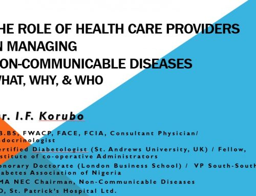 The Role of Healthcare Providers in managing NCD
